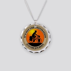 Its The Journey Necklace Circle Charm