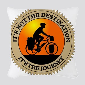Its The Journey Woven Throw Pillow