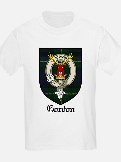 Gordon Clan Crest Tartan Kids T-Shirt
