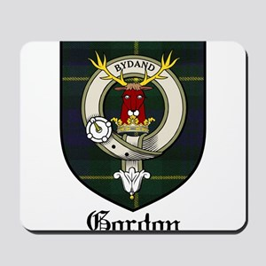 Gordon Clan Crest Tartan Mousepad