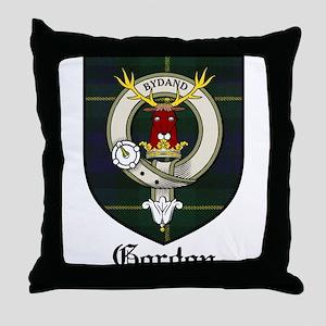 Gordon Clan Crest Tartan Throw Pillow