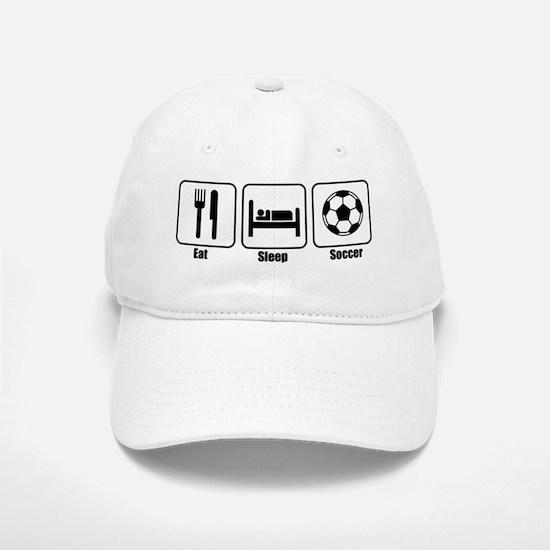 Eat Sleep Soccer BLK Baseball Baseball Cap