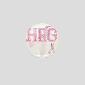 HRG initials, Pink Ribbon, Mini Button