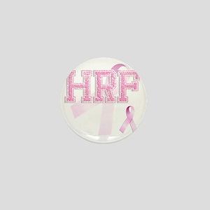 HRF initials, Pink Ribbon, Mini Button