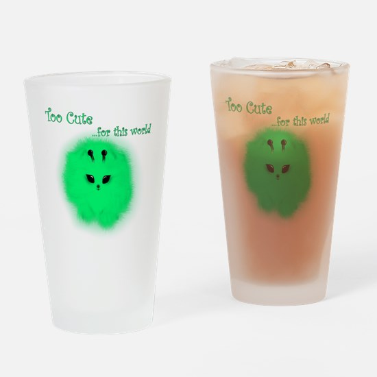 Alien Pomeranian Drinking Glass