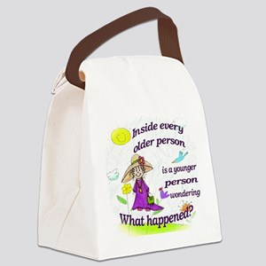 Inside older person Canvas Lunch Bag