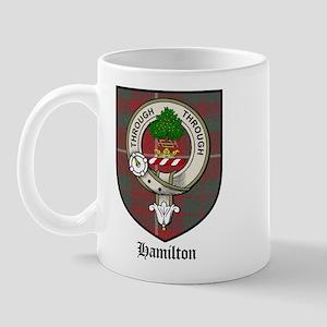 Hamilton Clan Crest Tartan Mug