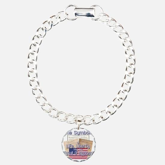 July4: 0006c Charm Bracelet, One Charm