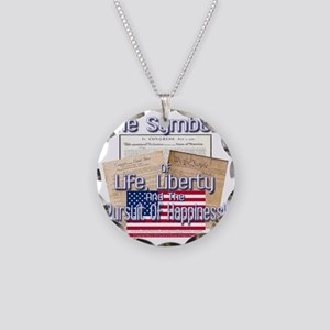 July4: 0006c Necklace Circle Charm