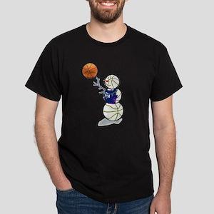 Basketball Snowman Dark T-Shirt