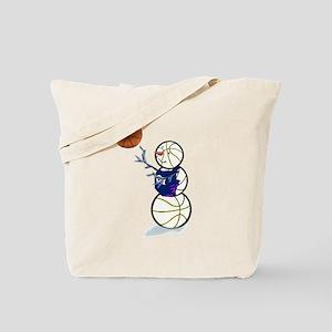 Basketball Snowman Tote Bag