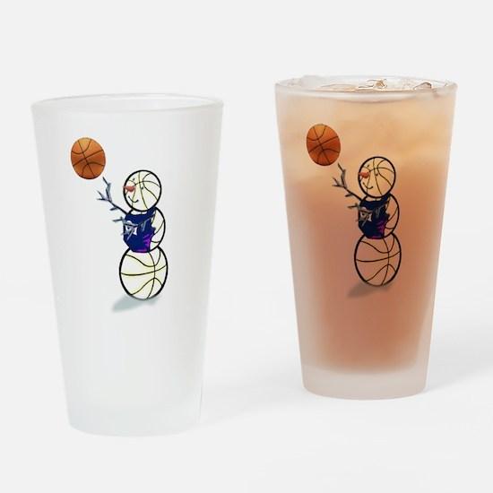 Basketball Snowman Drinking Glass
