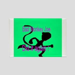 Bad Monkey Joe Rectangle Magnet