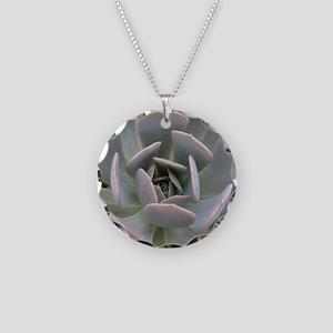 cactus Necklace Circle Charm