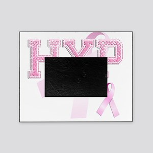 HXP initials, Pink Ribbon, Picture Frame