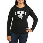 Irish Women's Long Sleeve Dark T-Shirt