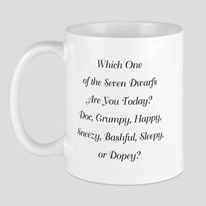 Which One of the Seven Dwarfs WB Mugs