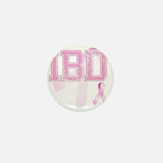 IBD initials, Pink Ribbon, Mini Button