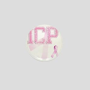 ICP initials, Pink Ribbon, Mini Button