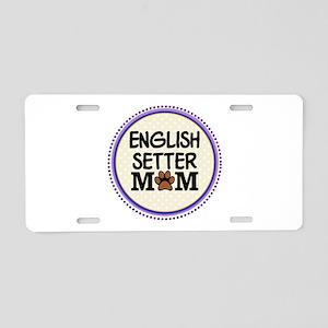 English Setter Dog Mom Aluminum License Plate