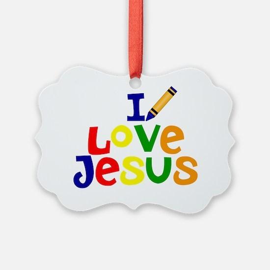 I Love Jesus - Kids Handwriting - Ornament