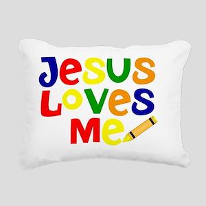 Jesus Loves Me - Kids Ha Rectangular Canvas Pillow