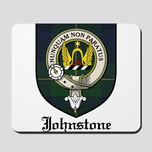 Johnstone Clan Crest Tartan Mousepad