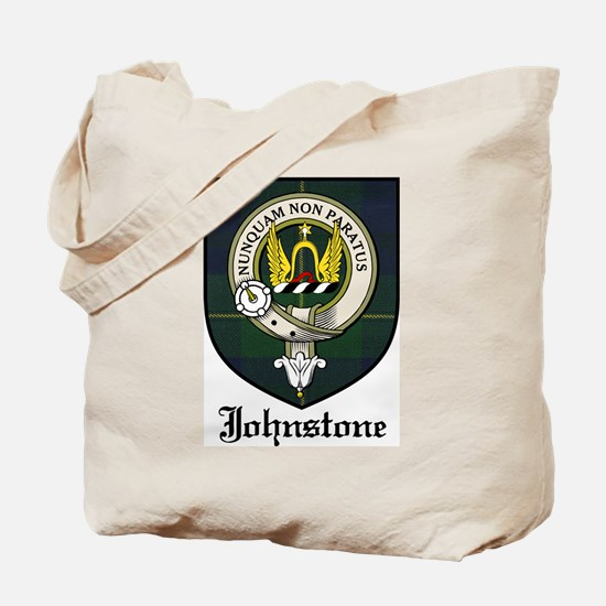 Johnstone Clan Crest Tartan Tote Bag
