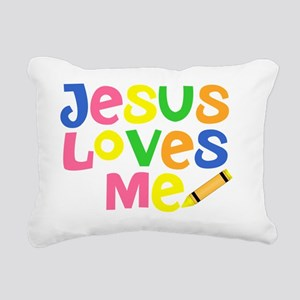 Jesus Loves Me - Kids Ha Rectangular Canvas Pillow