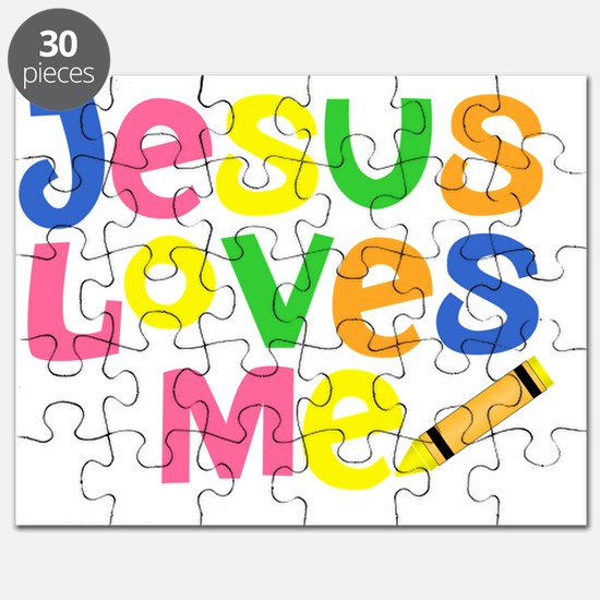 Jesus Loves Me - Kids Handwriting - Pastel  Puzzle