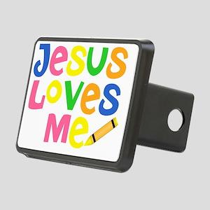 Jesus Loves Me - Kids Hand Rectangular Hitch Cover