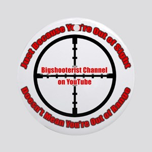 Bigshooter Transparency Round Ornament