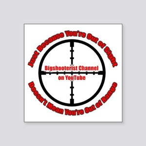 "Bigshooter Transparency Square Sticker 3"" x 3"""