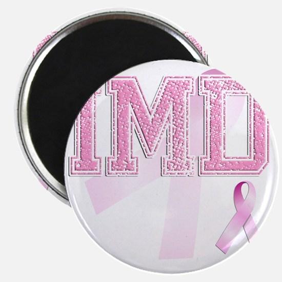 IMD initials, Pink Ribbon, Magnet