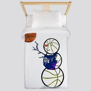 Basketball Snowman Twin Duvet