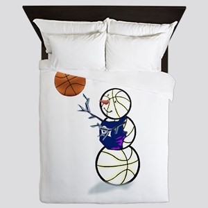 Basketball Snowman Queen Duvet