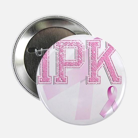 "IPK initials, Pink Ribbon, 2.25"" Button"