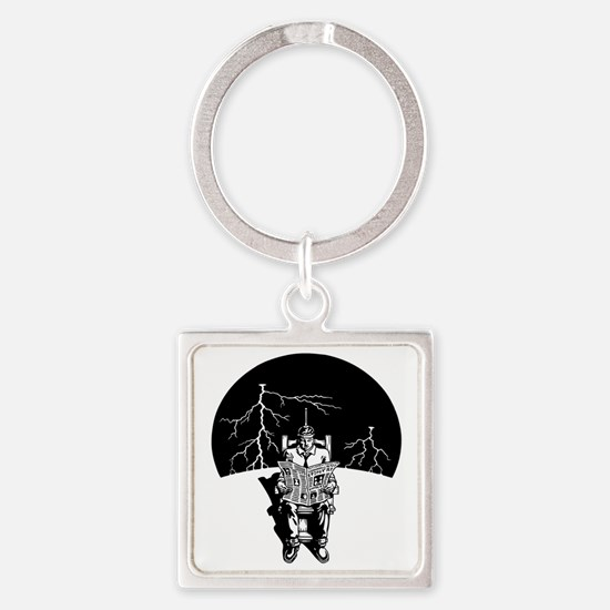 elec-chair-DKT Square Keychain