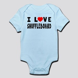 I Love Shuffleboard Infant Bodysuit