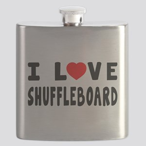I Love Shuffleboard Flask