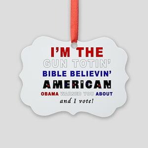 Gun Totin Picture Ornament