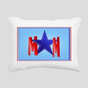 A Blue Star Mom Rectangular Canvas Pillow