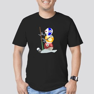 Billiards Ball Snowman Men's Fitted T-Shirt (dark)