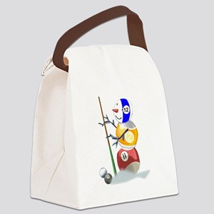 Billiards Ball Snowman Canvas Lunch Bag