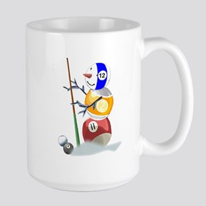 Billiards Ball Snowman Large Mug