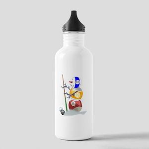 Billiards Ball Snowman Stainless Water Bottle 1.0L
