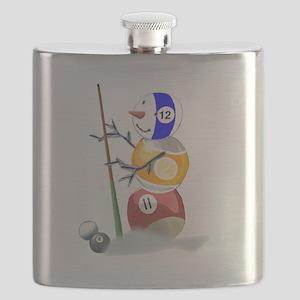 Billiards Ball Snowman Flask