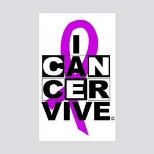 General Cancer Awareness Rectangle Sticker