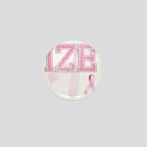 IZE initials, Pink Ribbon, Mini Button