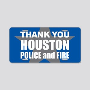 Thank You Houston Aluminum License Plate